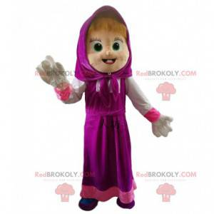 Maskottchen Mascha, das berühmte kleine Mädchen in Mascha und