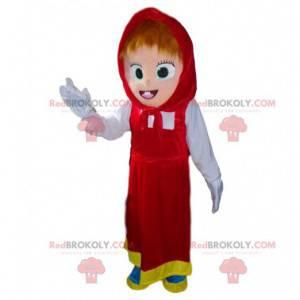 Mascot Masha, famosa chica rubia en Masha y el oso -