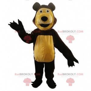 Mascote do urso, famoso urso do desenho animado Masha e o urso