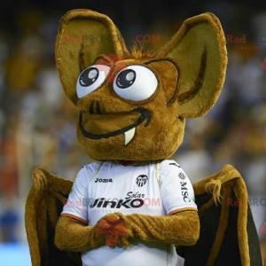 Mascot beautiful brown bat - Redbrokoly.com