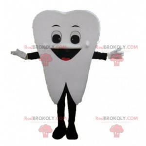 Obří bílý zub maskot, zub kostým - Redbrokoly.com