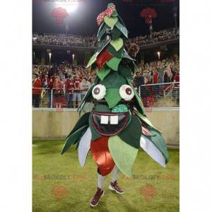 Green and red Christmas tree mascot - Redbrokoly.com