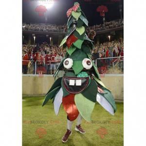 Mascote verde e vermelho da árvore de natal - Redbrokoly.com