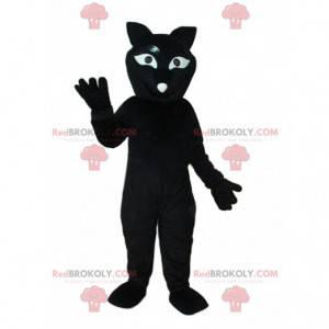 Schwarzes Katzenmaskottchen, riesiges Plüschkatzenkostüm -