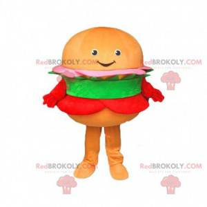 Orange hamburger maskot, hamburger kostume - Redbrokoly.com