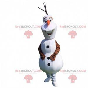 Mascota de Olaf, famoso muñeco de nieve de dibujos animados -