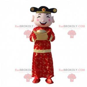 Asiatisk manddragt, rigdomens gud, asiatisk maskot -