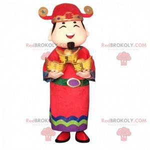 Aziatisch mannenkostuum, god van de rijkdom, Aziatische