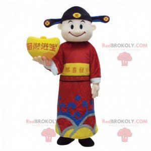 Asian man mascot, god of wealth, Asian costume - Redbrokoly.com