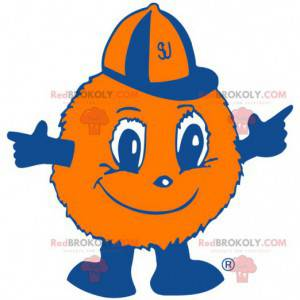 Balloon orange fur ball mascot - Redbrokoly.com