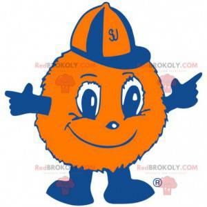 Mascota de bola de piel naranja globo - Redbrokoly.com