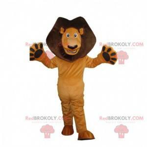 Mascote Alex, o famoso leão do desenho animado Madagascar -