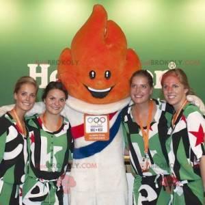 Orange flame mascot of the Olympic Games - Redbrokoly.com