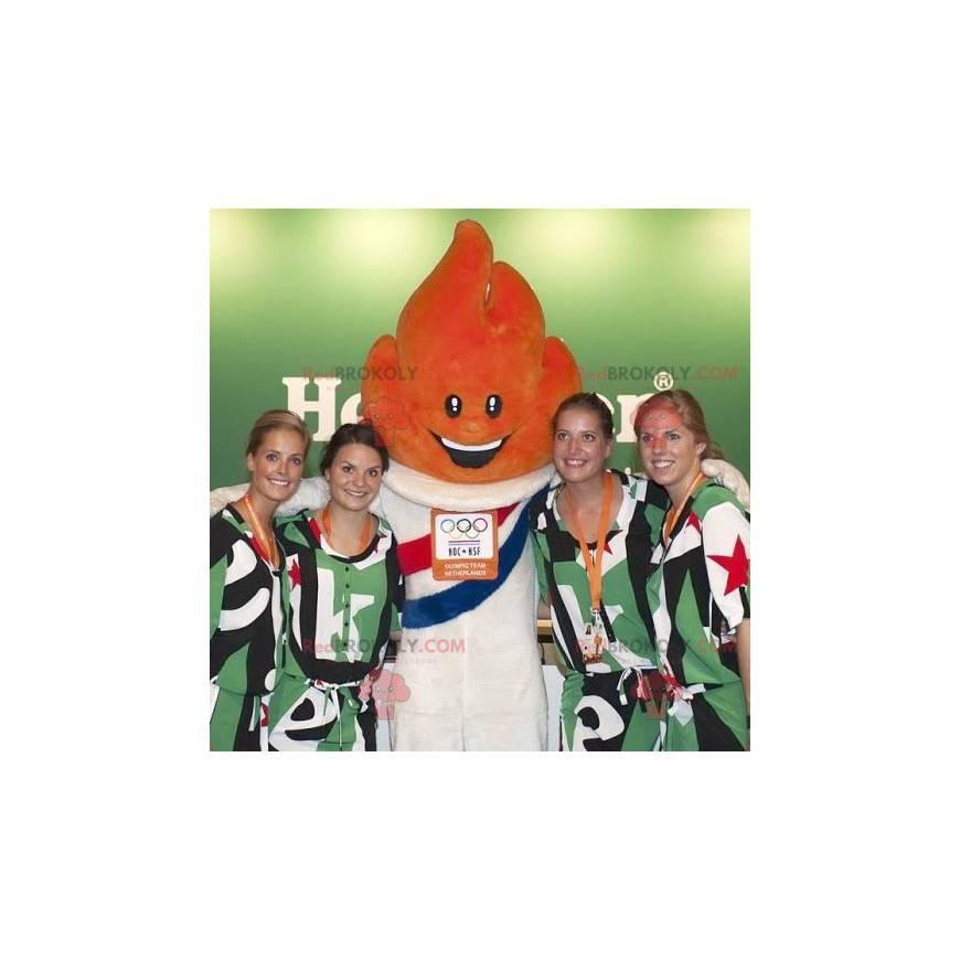 Orange Flammenmaskottchen der Olympischen Spiele -