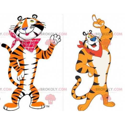 Tiger Maskottchen Frosties berühmten orange weißen und