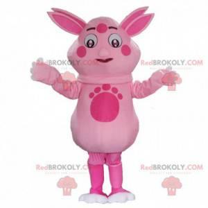 Luntik maskot, slavná růžová kreslená postavička -