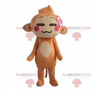 Yoyo and Cici monkey mascot, famous brown monkey -
