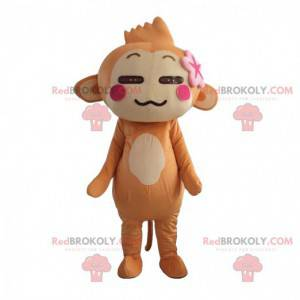 Yoyo og Cici ape maskot, berømt brun ape - Redbrokoly.com