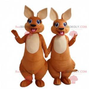 2 mascotte canguro completamente personalizzabili -
