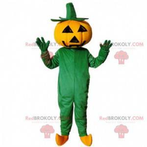 Riesiges Halloween-Kürbismaskottchen, Halloween-Kostüm -