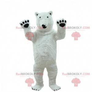 Fato de urso polar gigante, mascote de urso polar -