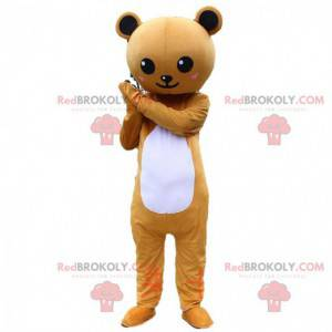 Bruin en wit teddybeer kostuum, teddybeer kostuum -