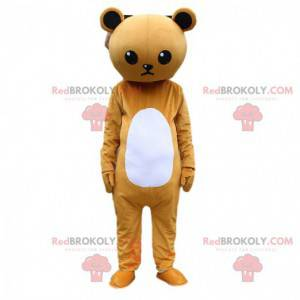 Brown and white sulky teddy bear costume, teddy bear costume -