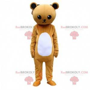 Costume da orsacchiotto imbronciato marrone e bianco, costume
