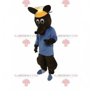 Bruin kangoeroe kostuum, reuzenkangoeroe kostuum -