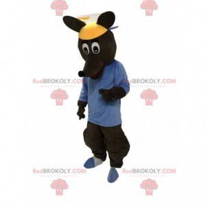 Brun kængurokostume, kæmpe kængurukostume - Redbrokoly.com