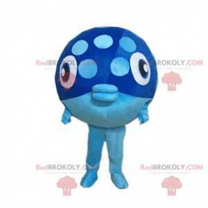 Costume da grande pesce azzurro, divertente costume da pesce -