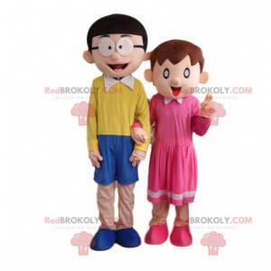 2 kostiumy postaci z serialu telewizyjnego, maskotki Doraemon -