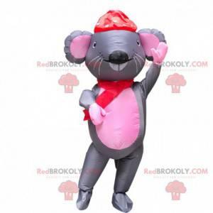 Fato de rato inflável, fantasia de rato gigante - Redbrokoly.com