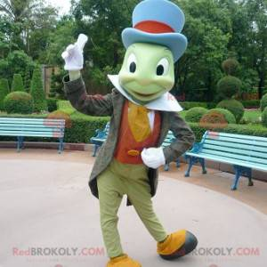 Mascote Jiminy Cricket famoso inseto em Pinóquio -
