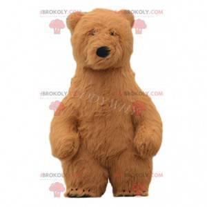 Fato de urso inflável, fantasia de urso gigante de pelúcia -