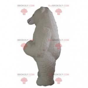 Fato de urso branco inflável grande, traje gigante -