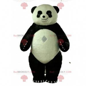 Fato de panda inflável, fantasia de urso de pelúcia gigante -