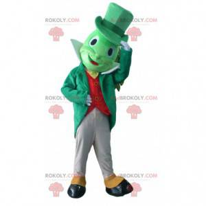 Mascote Jiminy Cricket, famoso críquete no Pinóquio -