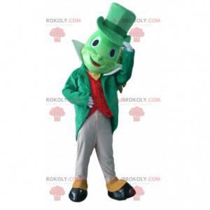 Maskot Jiminy Cricket, slavný kriket v Pinocchiu -