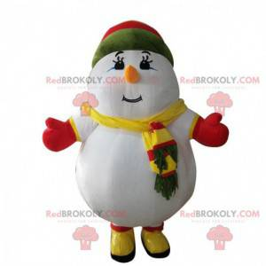 Fato de boneco de neve inflável, disfarce gigante -