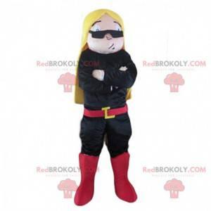 Disfarce de mulher loira com óculos escuros - Redbrokoly.com