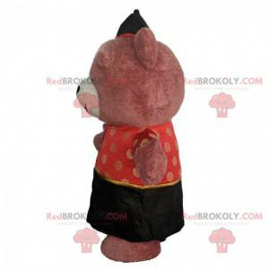 Inflatable bear costume dressed in Asian outfit - Redbrokoly.com