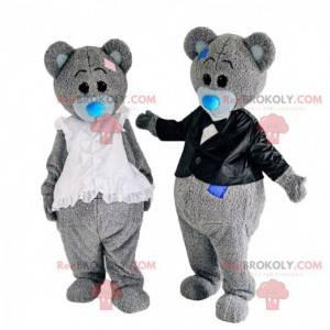 2 kostiumy misia, 2 maskotki misiów - Redbrokoly.com