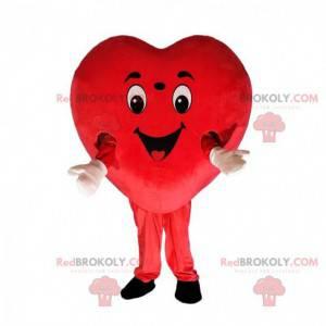 Gigantisch rood hart kostuum, hartvormig kostuum -