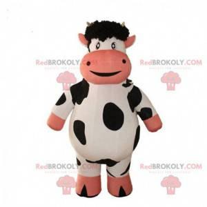 Mascotte opblaasbare koe, kostuum van een reusachtige koe -