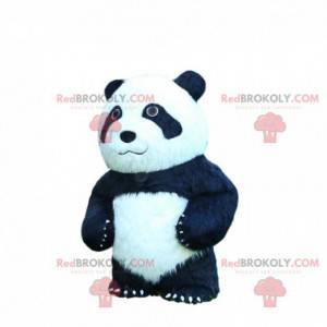 Black and white inflatable panda mascot, giant bear costume -