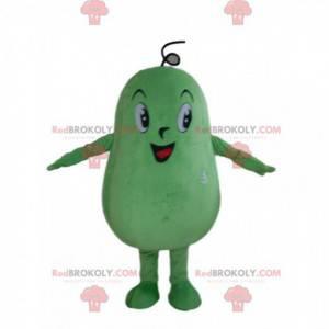 Riesiges grünes Kürbismaskottchen, grüne Gemüseverkleidung -