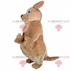 Oppustelig kænguru-maskot, kæmpe kænguru-kostume -