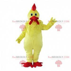 Reusachtig geel haan kostuum, kleurrijk kippenkostuum -
