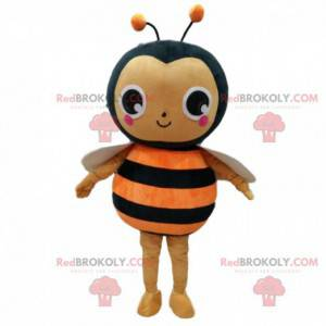 Orange og sort bi kostume, flyvende insekt kostume -